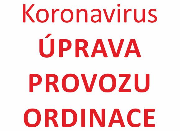 Koronavirus - provozní doba